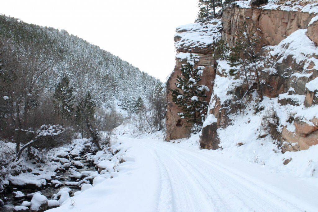 Crazy Horse Canyon Road in the Winter